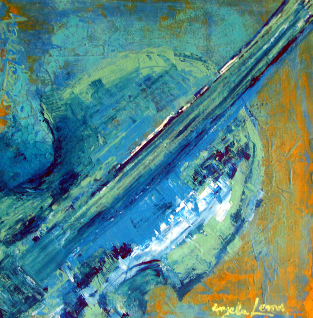 Abstraindo Violino – 0.50 x 0.50 Acrílico sobre tela – 0.25