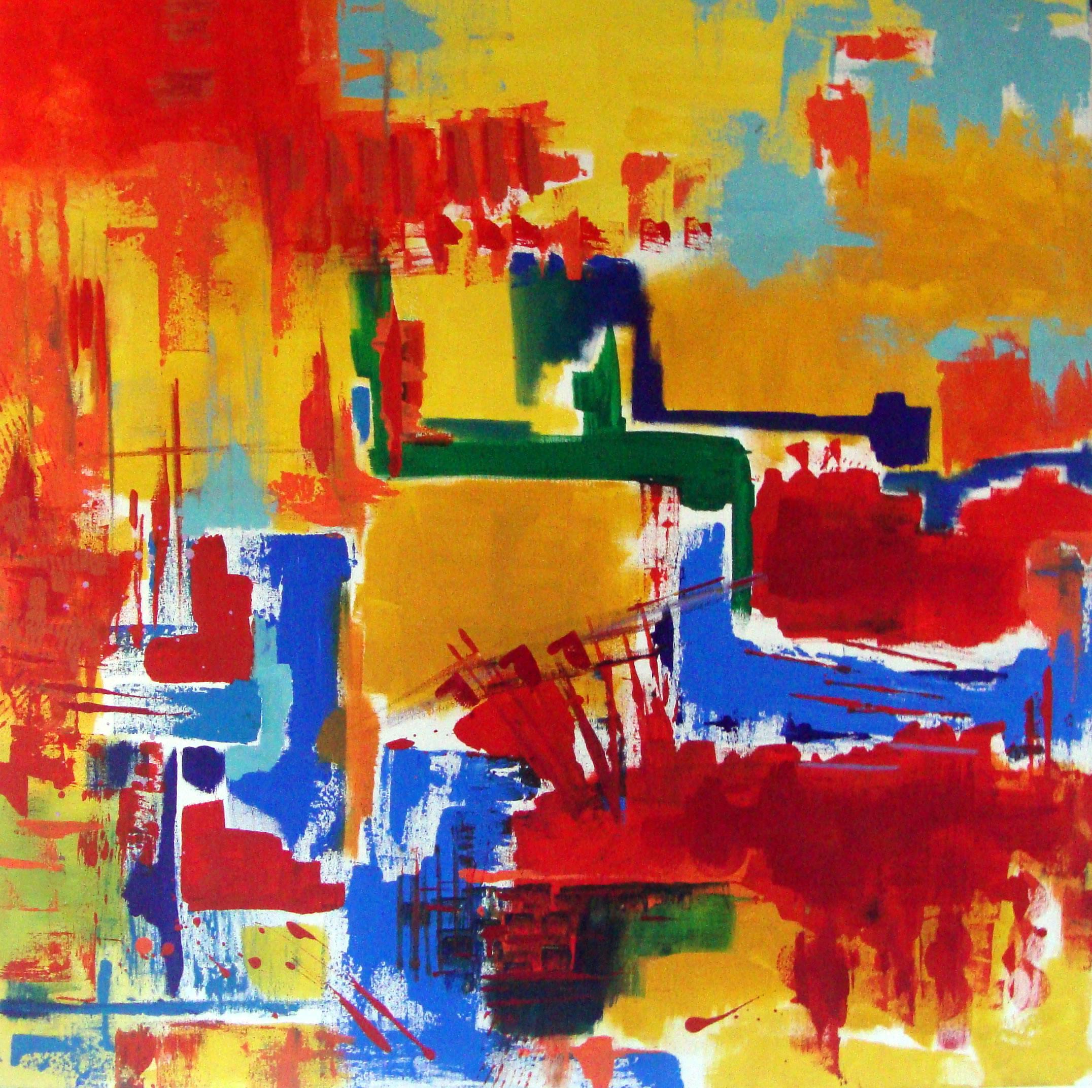 Sinfonia Abstrata 2017 Tamanho: 100 x 100 Acrílico sobre tela