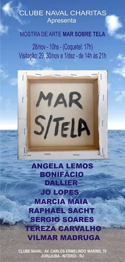 Mostra de arte Mar sobre Tela Clube Naval Charitas
