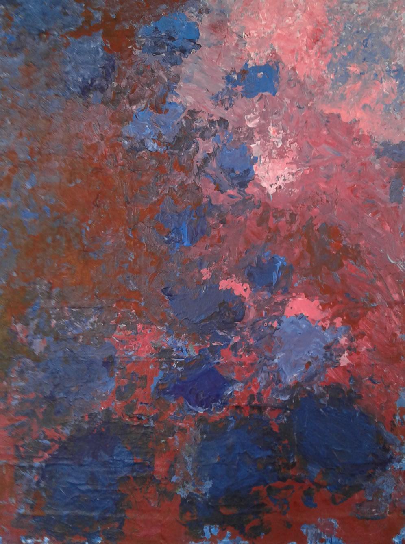 Série abstraindo flores Jardim azul 2018 Angela Lemos Fabrica Bhering