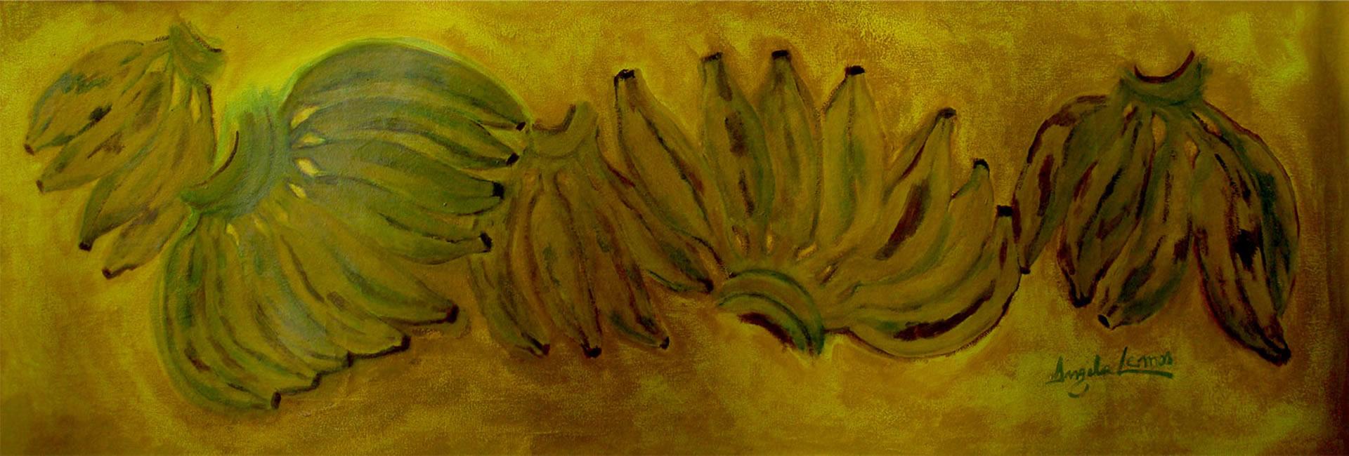 Banana Fundo Amarelo pintura angela lemos