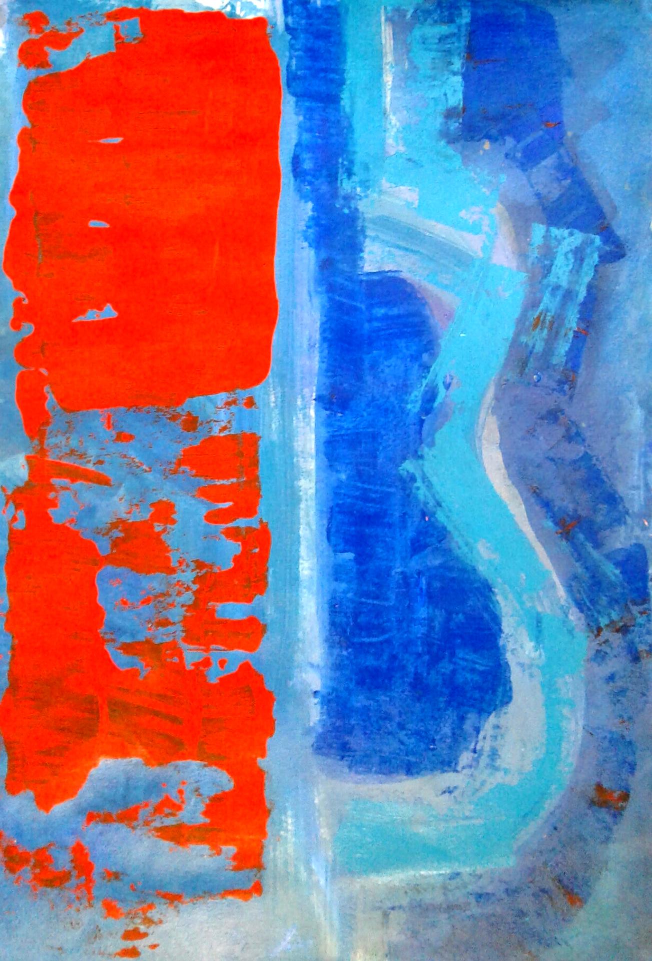 pintura abstrata acrilica papel angela lemos