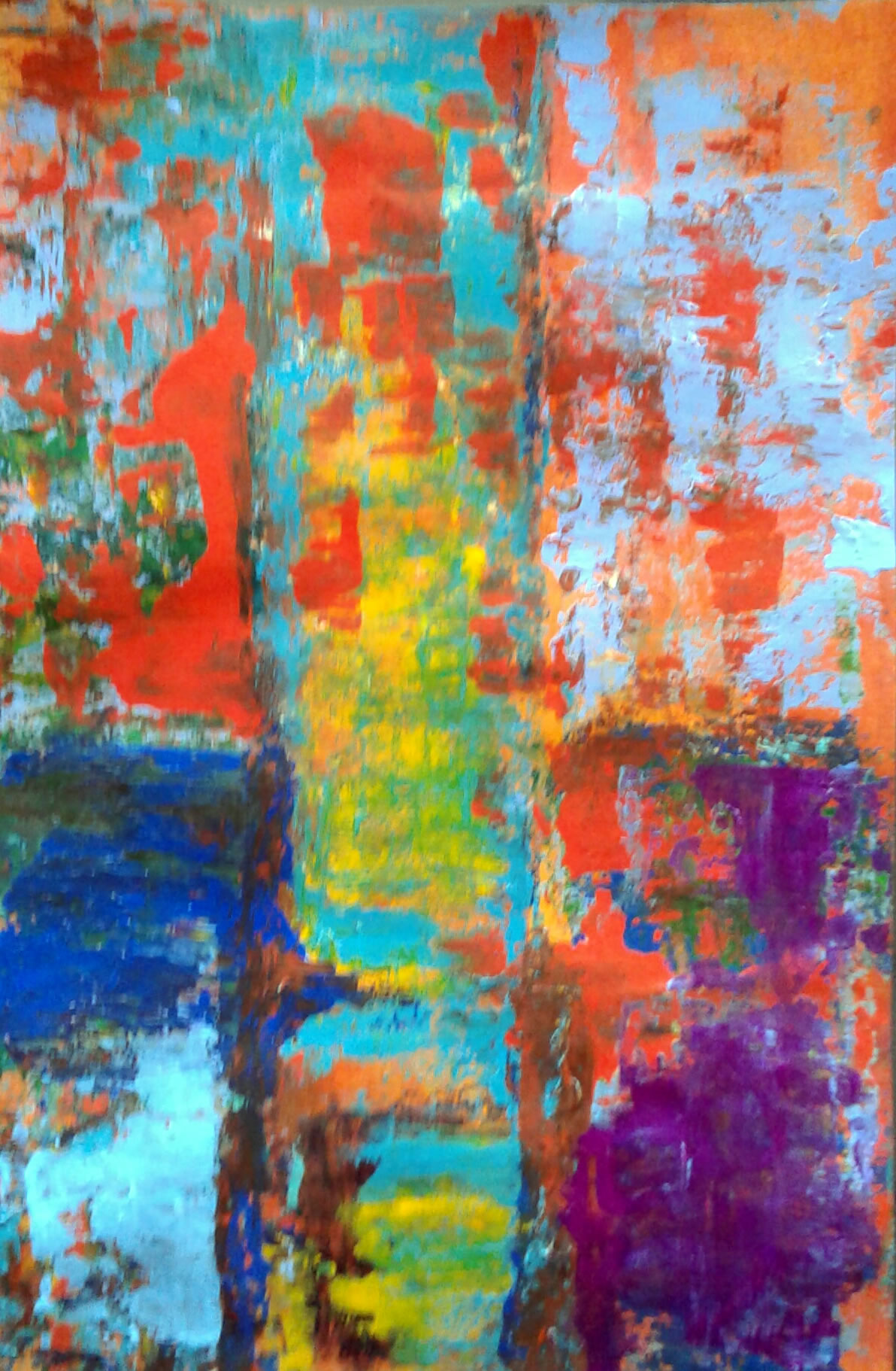 pintura abstrata papel angela lemos