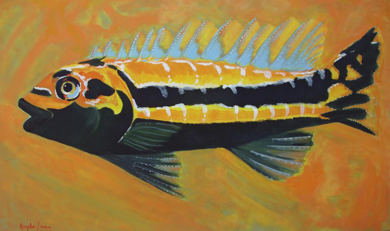 Peixe Pintura Angela Lemos