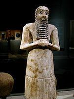 Venerador mesopotâmico de 2 750-2 600 a.C.