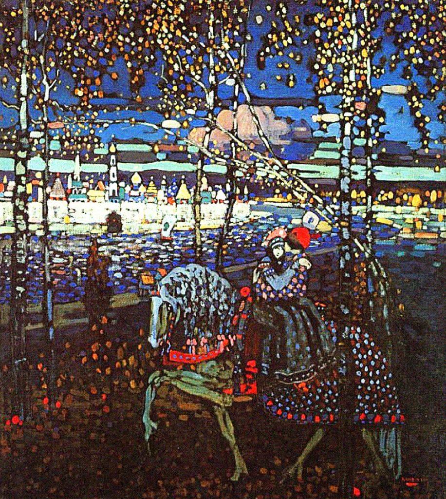 Obra Equitação dos pares -1906  Wassily Kandinsky
