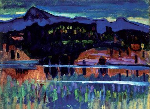 Murnau am Staffelsee -1905 Obra de Wassily Kandinsky