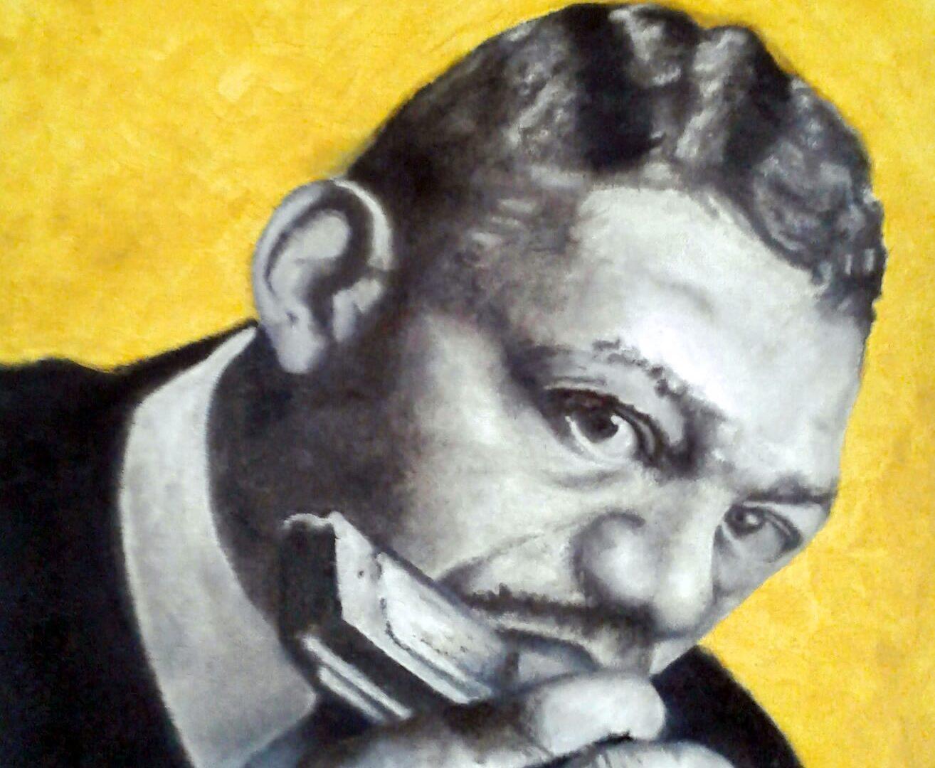 Litlle Walter Gaitista pintura oleo sobre tela Angela Lemos