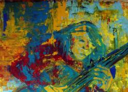 2015-O-Violonista-Vermelho-pintura-Acillico-sobre-tela-angela-lemos