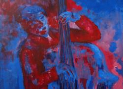 2015-Baixista-Vermelho-pintura-Acillico-sobre-lona-angela-lemos