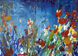 Abstraindo flores Cheiro da noite Angela Lemos