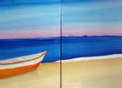 Barco na Praia no Amanhecer de Búzios Angela Lemos