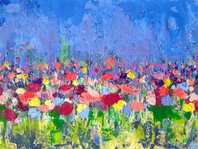 Série: Abstraindo Flores - Título: Verão - Tamanho: 0.35 x 1.50 - Valor: K