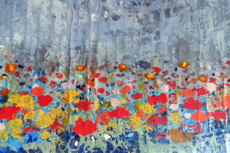 Série: Abstraindo Flores - Título: Dia de Chuva - Tamanho: 0.35 x 1.50