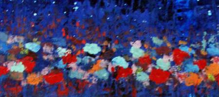 Abstraindo Flores na noite de Angela Lemos