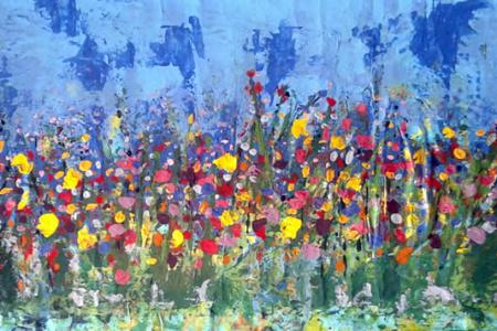 Abstraindo Flores na primavera de Angela Lemos