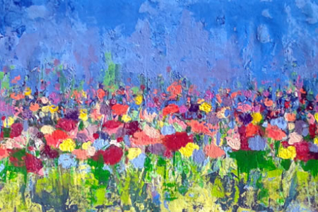Abstraindo Flores no verão de Angela Lemos