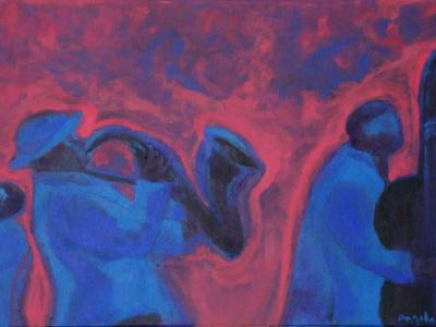 Título: Banda Jazz Azul e Rosa