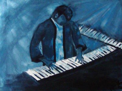 Título: Banda Jazz Tecladista Azul