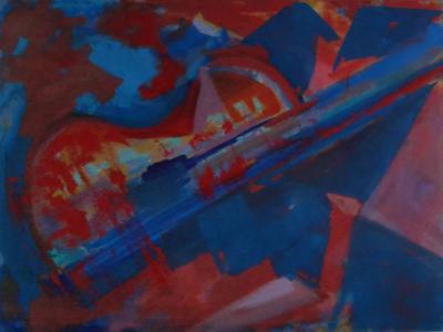 Cordas - pintura - artes-visuais - Angela Lemos