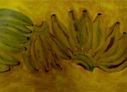 Bananas no fundo amarelo de Angela Lemos