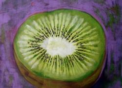 Título: Kiwi no fundo verde
