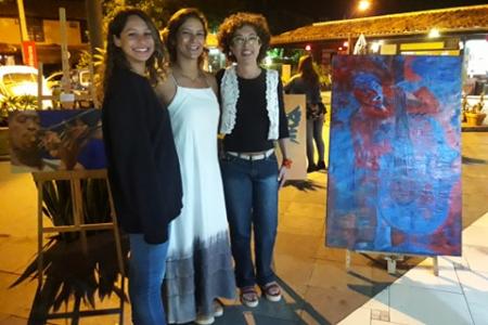 Pintora brasileira Angela Lemos na Galeria 27 Shopping nº 1 Rua das Pedras Búzios RJ