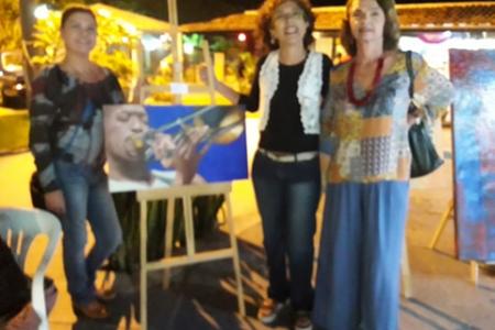 Pintora brasileira contemporânea Angela Lemos na Galeria 27 Shopping nº 1 Rua das Pedras Búzios RJ