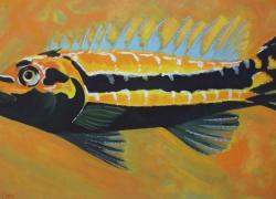 Peixe na Natureza de Angela Lemos Acrílica sobre tela