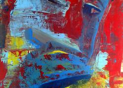 Gaitista cores basicas Pintura de Angela Lemos acrílico sobre tela