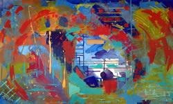Atraves abstrato arte contemporanea Angela Lemos