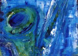 Abstraindo Sax Pintura de Angela Lemos acrílico sobre tela