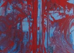 Título: Violão Impulso Vermelho - Técnica: Acrílico sobre tela - Tamanho: 0.30 x 0.60 - Valor: K