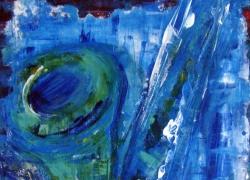 Título: Abstraindo Sax – 2015 - Técnica: Acrílico sobre tela - Tamanho: 0.50 x 0.50 - Valor: K