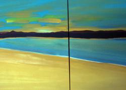 A Praia Deserta - Díptico de Angela Lemos