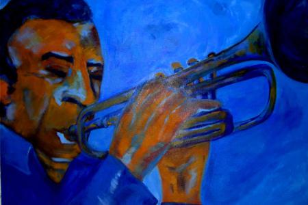 Título: Trompetista Azul