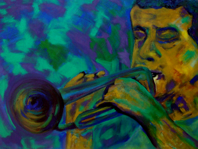 Título: Trompetista Verde