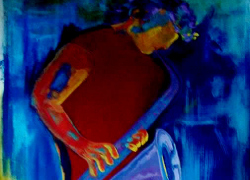 Título: Saxofonista Vermelho