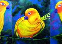 jandaia-passaro-pintura-acrilica-angela-lemos