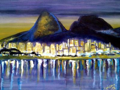 Título: Noite na Lagoa Rodrigo de Freitas