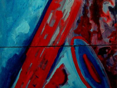 Título: Sax Azul e Vermelho díptico