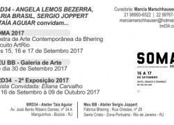 Sax Amarelo de Angela Lemos no SOMA Conexão ArtRio no Espaço Conceito Bhering 2017