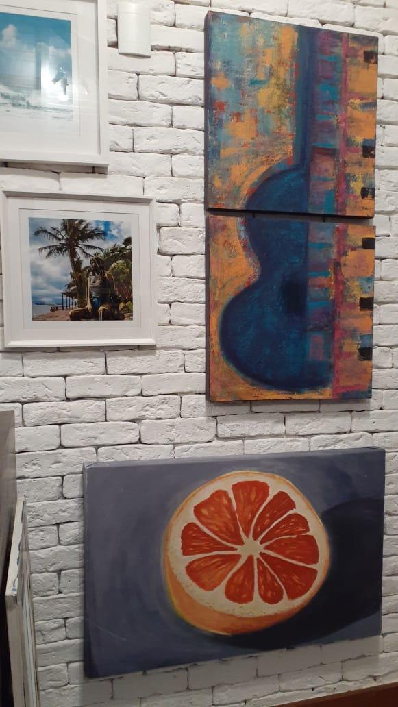 Angela Lemos Pintura Abstrata Galeria 27 Buzios