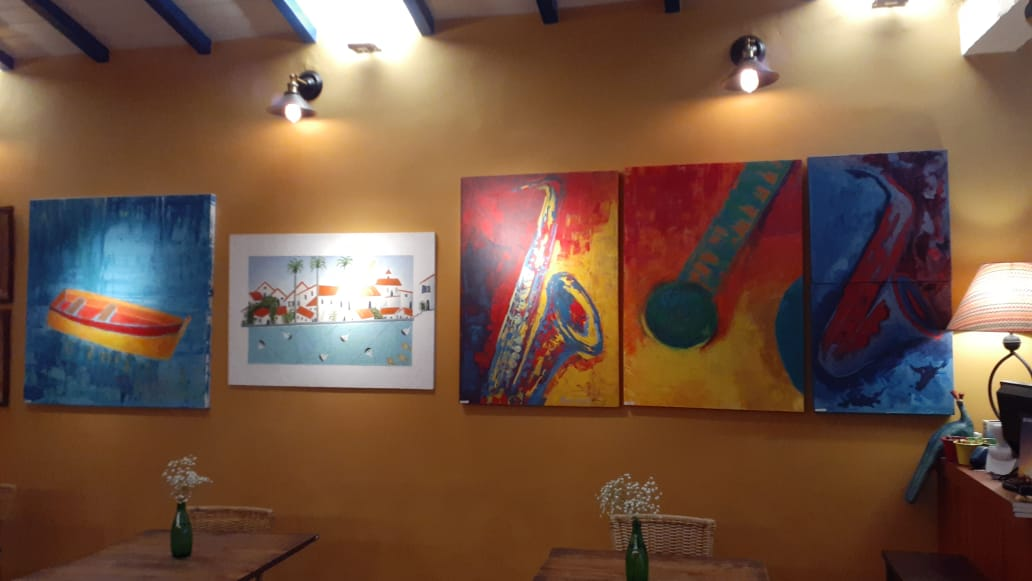 Angela Lemos Pintura Figurativa Restaurante Bananaland Galeria 27 Buzios