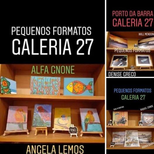 Angela Lemos Pintura Passaros Galeria 27 Buzios