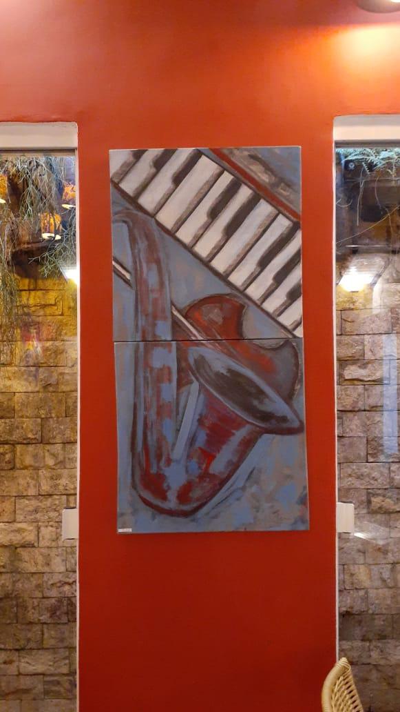 Angela Lemos Pintura Sax Restaurante Bananaland Galeria 27 Buzios RJ