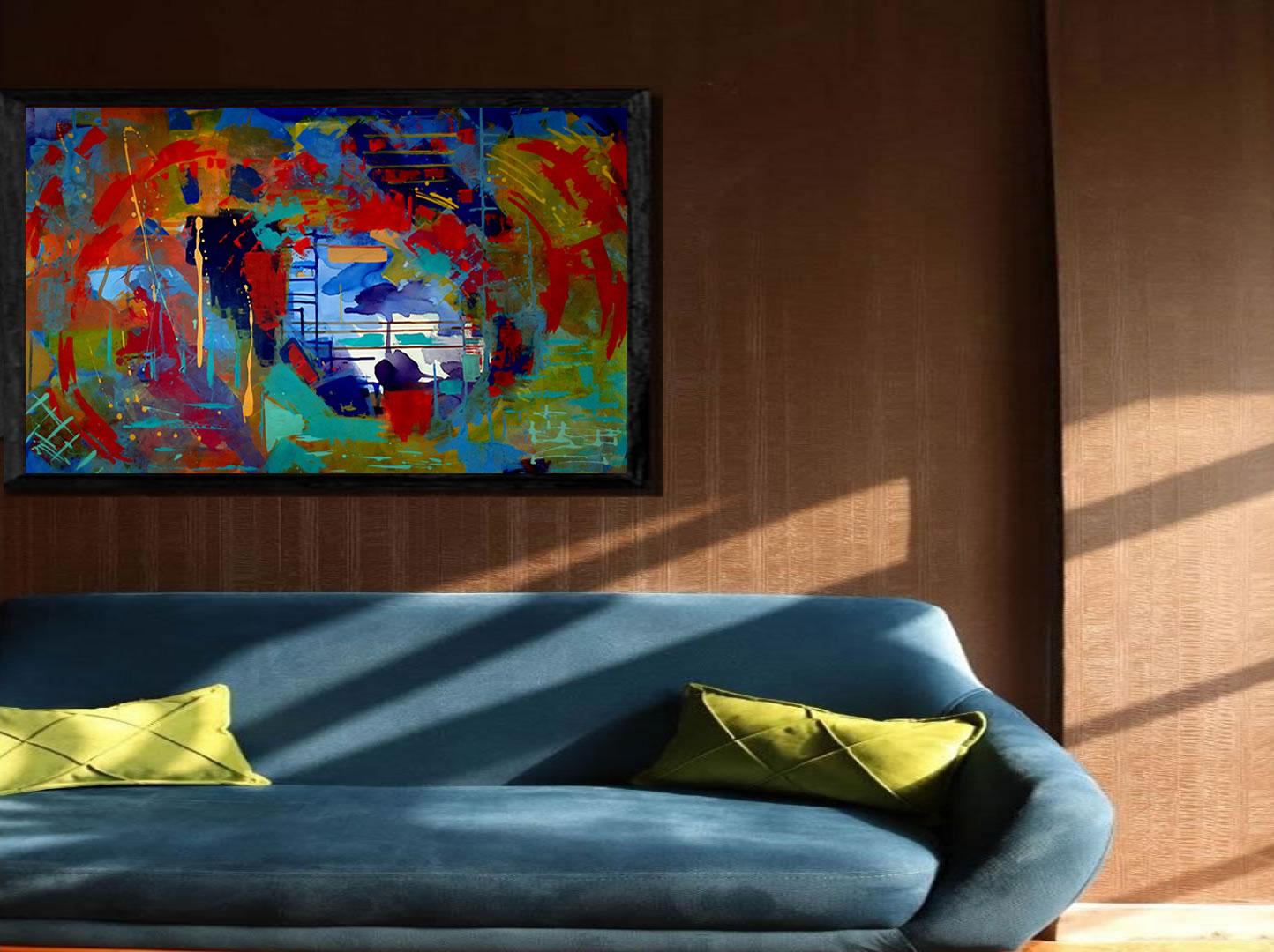 Pinturas Abstratas Decoração Angela Lemos