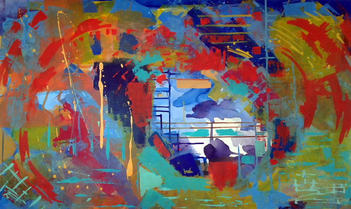 Pintura Abstrata Angela Lemos